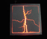 Lightning / plasma panel high voltage effect prop plasma panel - red 500 x 500mm